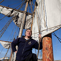 6/01/2012 - Bristol - pix of The Matthew in the harbour at Bristol with skipper Rob Salvidge and his crew -
