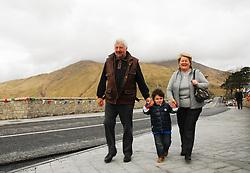 The Joyces crossing the new bridge in Leenaun...Pic Conor McKeown