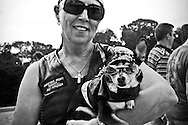 Carol Sours, of Browntown, Virginia, holds her 8-year old dog, Isabella, near the Lincoln Memorial during Memorial Day weekend in Washington DC on May 29, 2010. Sours, a motorcycle enthusiast, road to the National Mall on her motorcycle with her dog to celebrate the holiday weekend. (photo by Alexis C. Glenn/UPI)