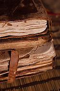 Ancient arab manuscripts part of  the 'Ahmed al Mahmoud fondation' library, in Chinguetti.