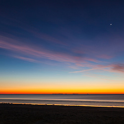 Dawn over the Atalantic Ocean at Jenness Beach State Park in Rye, New Hampshire.