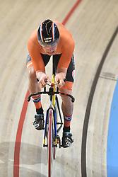 04-03-2018 BAANWIELRENNEN: UCI WK BAANWIELRENNEN: APELDOORN<br /> Theo Bos (NED) brons op de mens 1km time trail<br /> <br /> Foto: Margarita Bouma