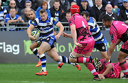 Chris Cook of Bath Rugby in attack - Photo mandatory by-line: Patrick Khachfe/JMP - Mobile: 07966 386802 01/11/2014 - SPORT - RUGBY UNION - Bath - The Recreation Ground - Bath Rugby v London Welsh - LV= Cup