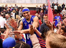 Greg Streete of Bristol Flyers greets Flyers fans after the game  - Mandatory byline: Joe Meredith/JMP - 11/12/2015 - Basketball - SGS Wise Campus - Bristol, England - Bristol Flyers v Plymouth Raiders - British Basketball League