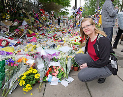 Woolwich murder. Eyewitness Ingrid Loyau-Kennett returns to the scene for the first time since the killing, London, England, May 29, 2013. Photo by: i-Images