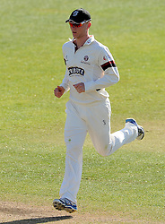 Somerset's Sam Wyatt-Haines - Photo mandatory by-line: Harry Trump/JMP - Mobile: 07966 386802 - 14/04/15 - SPORT - CRICKET - LVCC County Championship - Day 3 - Somerset v Durham - The County Ground, Taunton, England.