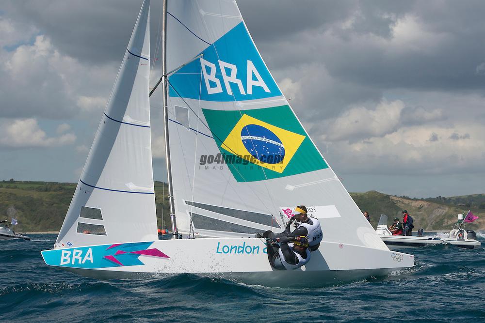 2012 Olympic Games London / Weymouth<br /> <br /> Star practice race<br /> StarBRAScheidt Robert, Prada Bruno