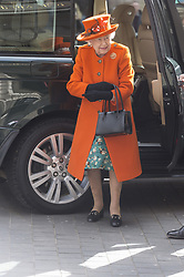 March 7, 2019 - London, London, UK - London, UK. Queen Elizabeth II visits The Science Museum to announce its Summer exhibition, Top Secret and unveil a new space for supporters, to be known as Smith Centre. (Credit Image: © Ray Tang/London News Pictures via ZUMA Wire)