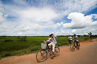 Lots of people who were abducted from other cities were forced to do heavy work in the field of Siem Reap.
