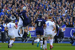 February 23, 2019 - Saint Denis, Seine Saint Denis, France - The Flanker of Scotland team JAMIE RITCHIE in action during the Guinness Six Nations Rugby tournament between France and Scotland at the Stade de France - St Denis - France..France won 27-10 (Credit Image: © Pierre Stevenin/ZUMA Wire)