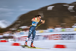 21.02.2019, Langlauf Arena, Seefeld, AUT, FIS Weltmeisterschaften Ski Nordisch, Seefeld 2019, Langlauf, Damen, Sprint, im Bild Julia Kern (USA) // Julia Kern of the USA during the ladie's Sprint competition of the FIS Nordic Ski World Championships 2019. Langlauf Arena in Seefeld, Austria on 2019/02/21. EXPA Pictures © 2019, PhotoCredit: EXPA/ Dominik Angerer