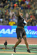 Fedrick Dacres (JAM) places second in the discus at 214-1 (65.27m) during the IAAF Diamond League final at the 44th Memorial Van Damme at King Baudouin Stadium, Friday, Sept. 6, 2019, in Brussels, Belgium. (Jiro Mochizuki/Image of Sport)