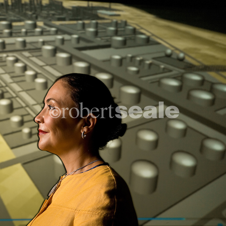 Nabilah Al-Tunisi, project director of the Ras Tanura Integrated Project, Aramco Services Company, at the ASC offices in Houston, Texas on Friday, May 23, 2008.  © 2008 Robert Seale...Robert Seale Photography.www.robertseale.com.832-654-9572