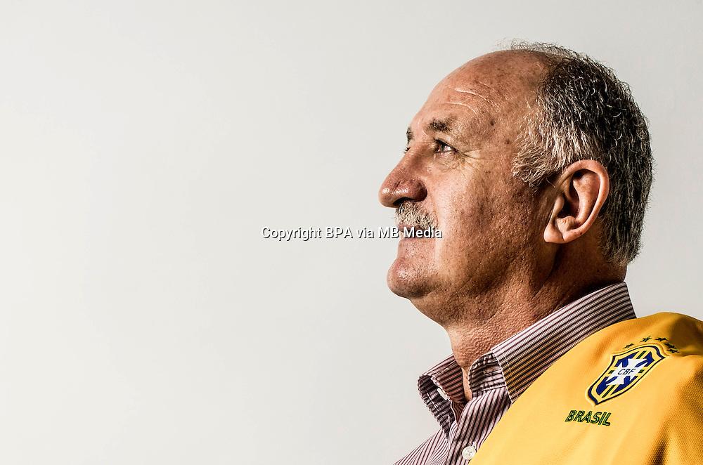 Football Fifa World Cup Brazil 2014 / <br /> Brazil National Team - <br /> Luis Felipe Scolari &quot; FELIPAO &quot; - Coach of Brazil -<br /> Private Session