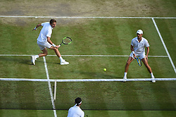 Nicolas Mahut (FRA) and Edouard Roger-Vasselin (FRA) lost their men's final at the 2019 Wimbledon Championships at the AELTC in London, GREAT BRITAIN, on July 13, 2019. Photo by Corinne Dubreuil/ABACAPRESS.COM