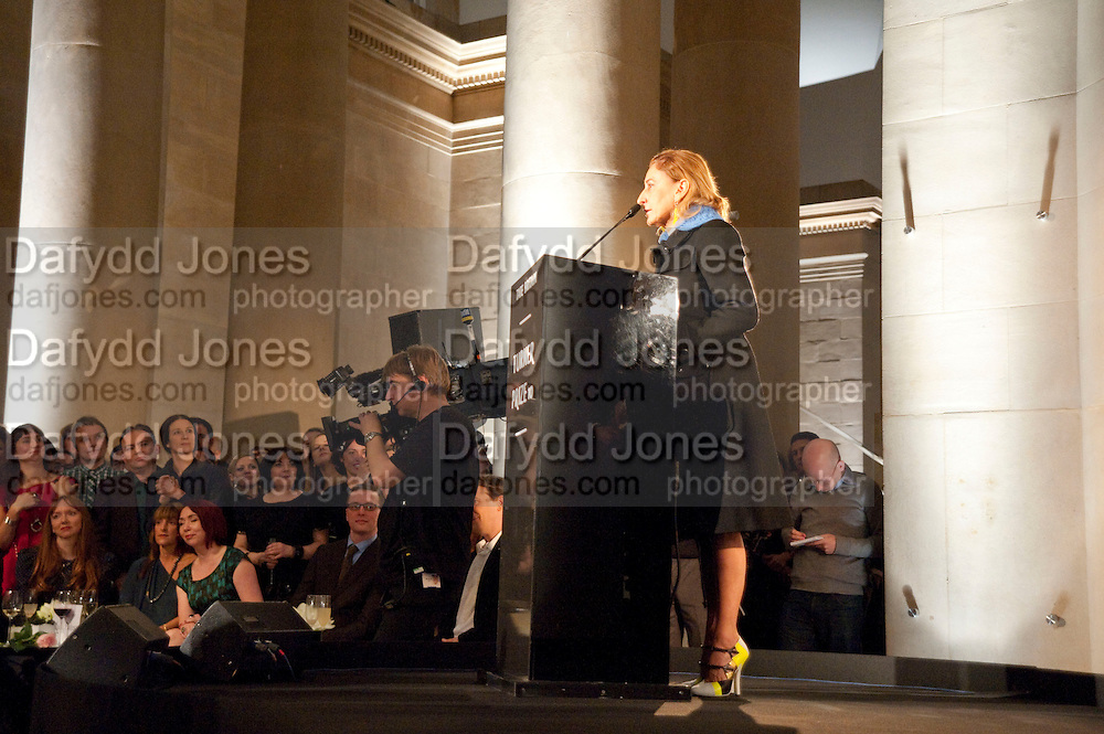 MIUCCIA PRADA, Turner Prize 2010. Tate Britain. Millbank. London. 6 December 2010. -DO NOT ARCHIVE-© Copyright Photograph by Dafydd Jones. 248 Clapham Rd. London SW9 0PZ. Tel 0207 820 0771. www.dafjones.com.