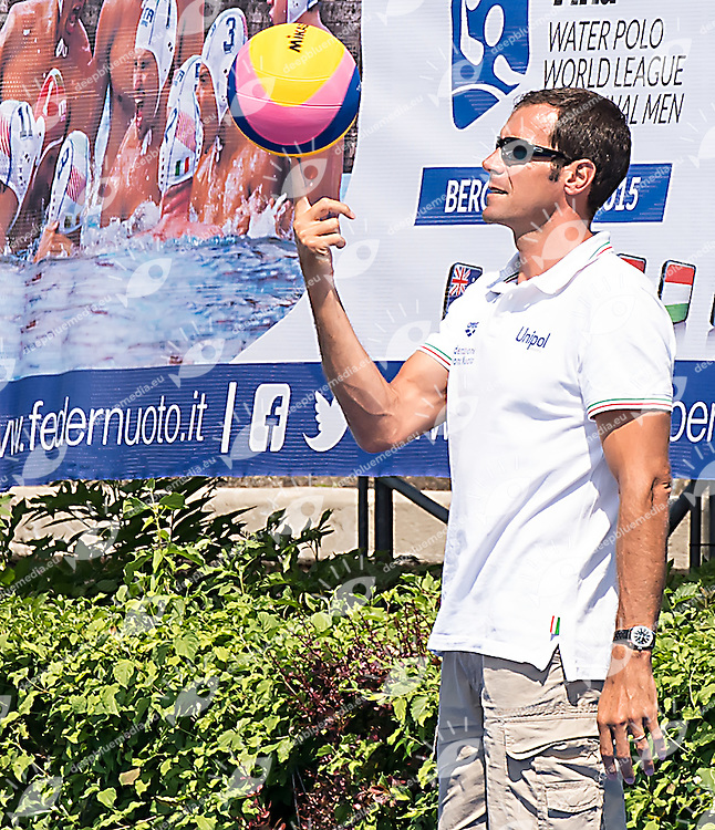 Francesco Postiglione<br /> Brazil BRA (white) - Australia AUS (green)<br /> day 04 - 26/06/2015<br /> FINA Water Polo World League Superfinal Men<br /> Bergamo (ITA) 23-28 June 2015<br /> Photo G.Scala/Deepbluemedia