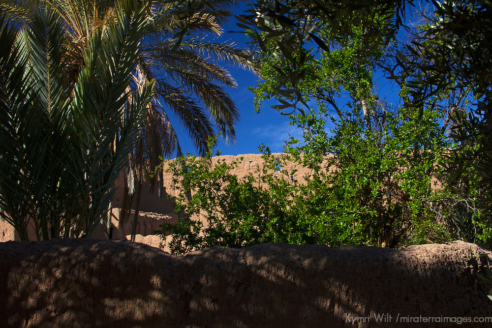 Africa, Morocco, Skoura. Kasbah Ruins of Skoura.