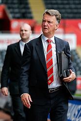 Manchester United Manager Louis van Gaal arrives at the stadium - Mandatory byline: Rogan Thomson/JMP - 07966 386802 - 30/08/2015 - FOOTBALL - Liberty Stadium - Swansea, Wales - Swansea City v Manchester United - Barclays Premier League.
