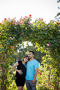 Larane poses for her maternity portraits at San Jose Municipal Rose Garden in San Jose, California, on August 7, 2017. (Stan Olszewski/SOSKIphoto)