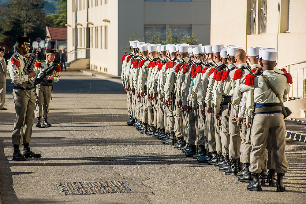 Preparating for the celebration of the 152nd anniversary of the Camerone battle, Aubagne