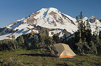Backcountry campsite on Skyline Divide, Mount Baker Wilderness Washington