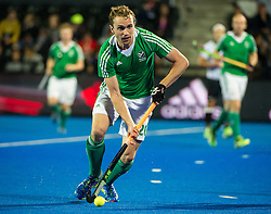Ireland's Michael Darling. Ireland v Germany - Unibet EuroHockey Championships, Lee Valley Hockey & Tennis Centre, London, UK on 23 August 2015. Photo: Simon Parker