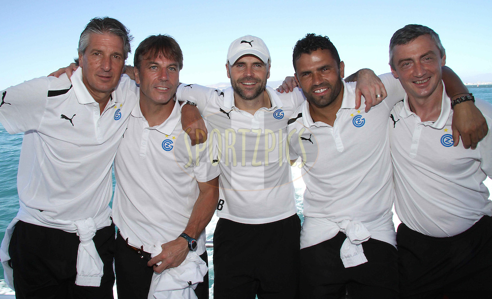 Members of the team management during the GCZ Grasshoppers Table Bay boat cruise in Cape Town, South Africa on the 22nd January 2013..Photo by:  Shaun Roy/ SPORTZPICS