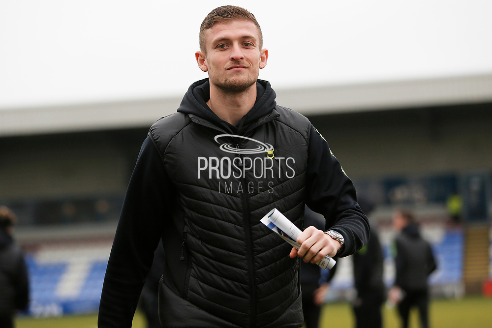 Adam Smith ahead of the EFL Sky Bet League 2 match between Macclesfield Town and Forest Green Rovers at Moss Rose, Macclesfield, United Kingdom on 25 January 2020.