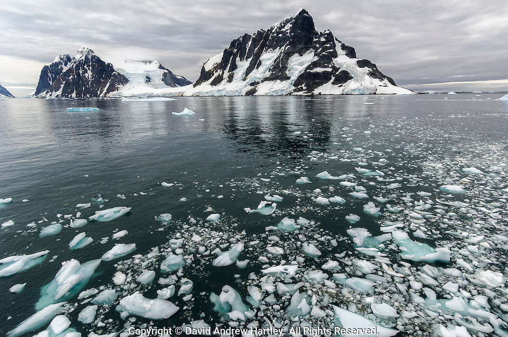 Sailing into the Lemaire Channel, Antarctic Peninsula