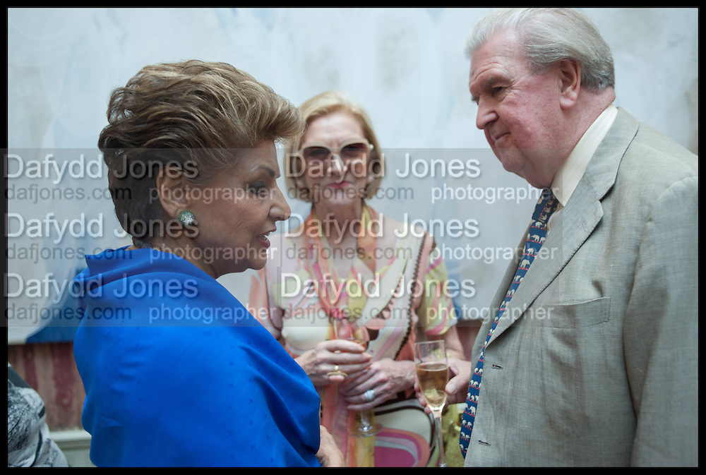 PRINCESS NEET NABHA KHEMKA; MRS. GEOFFREY REDMAN-BROWN; GEOFFREY REDMAN-BROWN, Drinks party to launch this year's Frieze Masters.Hosted by Charles Saumarez Smith and Victoria Siddall<br />  Academicians' room - The Keepers House. Royal Academy. Piccadilly. London. 3 July 2014
