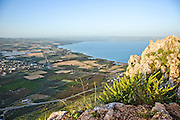 Israel, Lower Galilee, The Sea of Galilee as seen from Arbel mountain