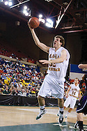 November 25th, 2010:  Anchorage, Alaska - University of Alaska-Anchorage forward Liam Gibcus (32) attempts a lay up in the Seawolves 54-86 loss to Weber State in the first round of the Great Alaska Shootout.