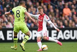17-09-2015 NED: UEFA Europa League AFC Ajax - Celtic FC, Amsterdam<br /> Ajax heeft in zijn eerste duel in de Europa League thuis moeizaam met 2-2 gelijkgespeeld tegen Celtic / Daley Sinkgraven #8