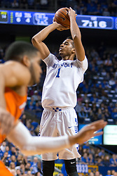 Kentucky forward Skal Labissiere shoots a jump shot in the first half.<br /> <br /> The University of Kentucky hosted the University of Florida, Saturday, Feb. 06, 2016 at Rupp Arena in Lexington .