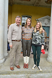 Sir Edward & Lady Dashwood and Victoria Dashwood at Young Guns raising money for the fight against breast cancer trough Cancer Research UK held at EJ Churchill Shooting School followed by lunch at West Wycombe Park, England. 23 September 2017.