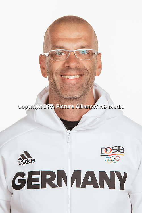 Raimund Igel poses at a photocall during the preparations for the Olympic Games in Rio at the Emmich Cambrai Barracks in Hanover, Germany, taken on 22/07/16 | usage worldwide