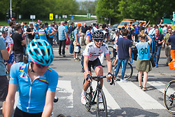 Martina Ritter (AUT) of Wiggle Hi5 Cycling Team finishes Liege-Bastogne-Liege - a 136 km road race, between Bastogne and Ans on April 22, 2018, in Wallonia, Belgium. (Photo by Balint Hamvas/Velofocus.com)