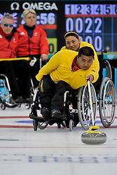 Haito Wang, Guangqin Xu, Angie Malone, Jim Gault, Wheelchair Curling Finals at the 2014 Sochi Winter Paralympic Games, Russia