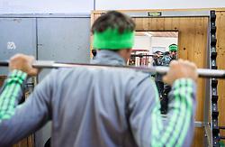 Robert Kranjec during fitness training of Slovenian Ski jumping National A team, on May 6, 2016, in Stadium Kranj, Slovenia.Photo by Vid Ponikvar / Sportida