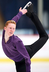 03.12.2015, Dom Sportova, Zagreb, CRO, ISU, Golden Spin of Zagreb, Kurzprogramm Herren, im Bild Conor Stakelum, Ireland // during the 48th Golden Spin of Zagreb 2015 Male Short Program of ISU at the Dom Sportova in Zagreb, Croatia on 2015/12/03. EXPA Pictures © 2015, PhotoCredit: EXPA/ Pixsell/ Slavko Midzor<br /> <br /> *****ATTENTION - for AUT, SLO, SUI, SWE, ITA, FRA only*****