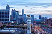 Buildings in midtown and downtown Atlanta, Goorgia