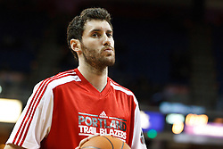 January 19, 2011; Sacramento, CA, USA;  Portland Trail Blazers shooting guard Rudy Fernandez (5) warms up before the game against the Sacramento Kings at the ARCO Arena. Portland defeated Sacramento 94-90 in overtime.