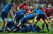 Milton Keynes, Great Britain,    Sebastien TILLOUS-BORDE, working away at the back. of the play, during the Pool D Game, France vs Canada.  2015 Rugby World Cup, Venue, StadiumMK, Milton Keynes, ENGLAND.  Thursday  01/10/2015<br /> Mandatory Credit; Peter Spurrier/Intersport-images]