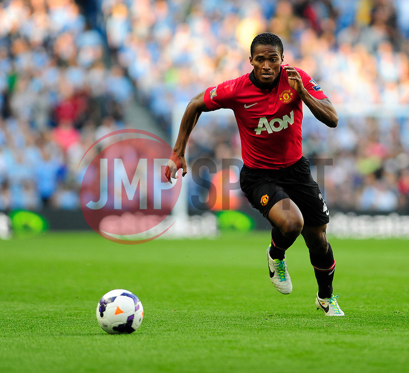 Manchester United's Luis Antonio Valencia - Photo mandatory by-line: Dougie Allward/JMP - Tel: Mobile: 07966 386802 22/09/2013 - SPORT - FOOTBALL - City of Manchester Stadium - Manchester - Manchester City V Manchester United - Barclays Premier League