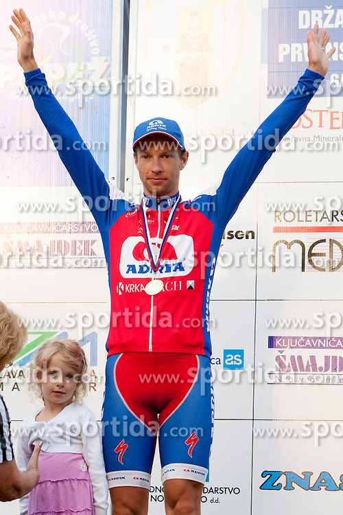 Matej Mugerli of Adria Mobil after Slovenian National Championship in Road Cycling, on June 23, 2013, in Gabrje, Slovenia. (Photo by Urban Urbanc / Sportida.com)