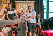 ROTTERDAM, THE NETHERLANDS. 2017, AUGUST 29. Jenny Arean and Tony Neef at the press conference of De Oase Bar geeft een Feestje at Walhalla.