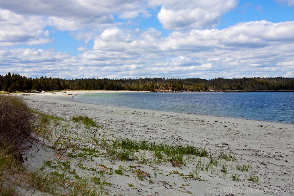 North America, Canada, Nova Scotia, Spry Bay. Taylor Head Provincial Park beach.