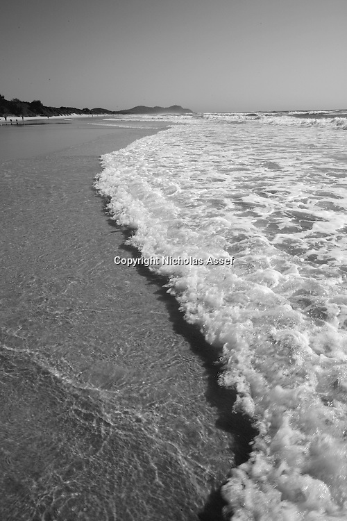 The waves of Tallows Beach - where dolphins play