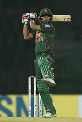 March 8, 2018 - Colombo, Sri Lanka - Bangladesh cricketer Tamim Iqbal plays a shot during the 2nd T20 cricket match of NIDAHAS Trophy between India  and Bangladesh at R Premadasa cricket ground, Colombo, Sri Lanka on Thursday 8 March 2018. (Credit Image: © Tharaka Basnayaka/NurPhoto via ZUMA Press)